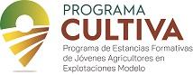 Logo del Programa CULTIVA (Programa de estancias formativas de jóvenes agricultores en explotaciones modelo)