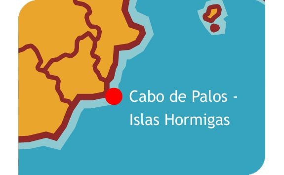 Cabo De Palos Mapa España.Reservas Marinas De Espana